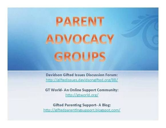 Parent Groups for a gifted child