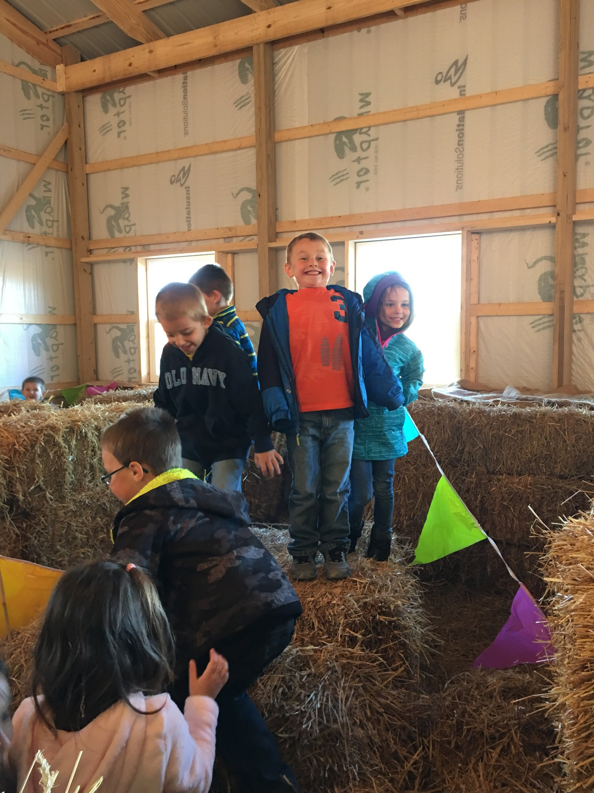 Students at pumpkin patch.