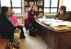 District leaders meeting with Senator Wellman