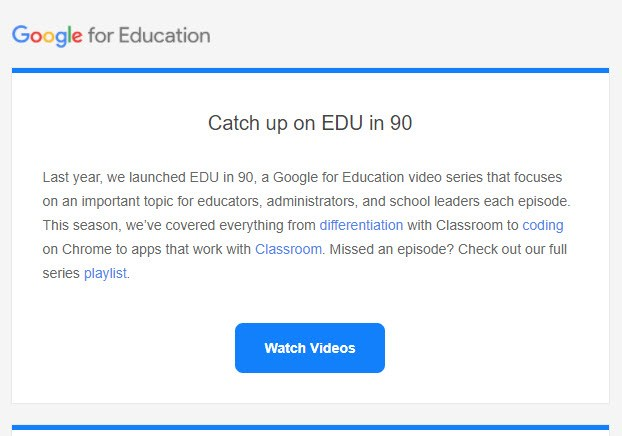 Catch up on EDU in 90
