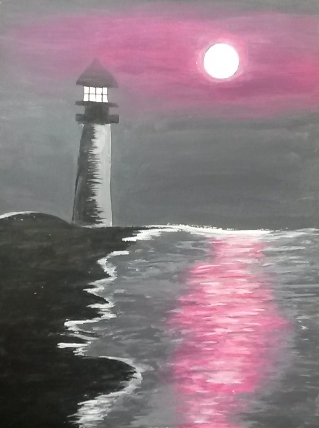 Student Artwork-Painting of a lighthouse