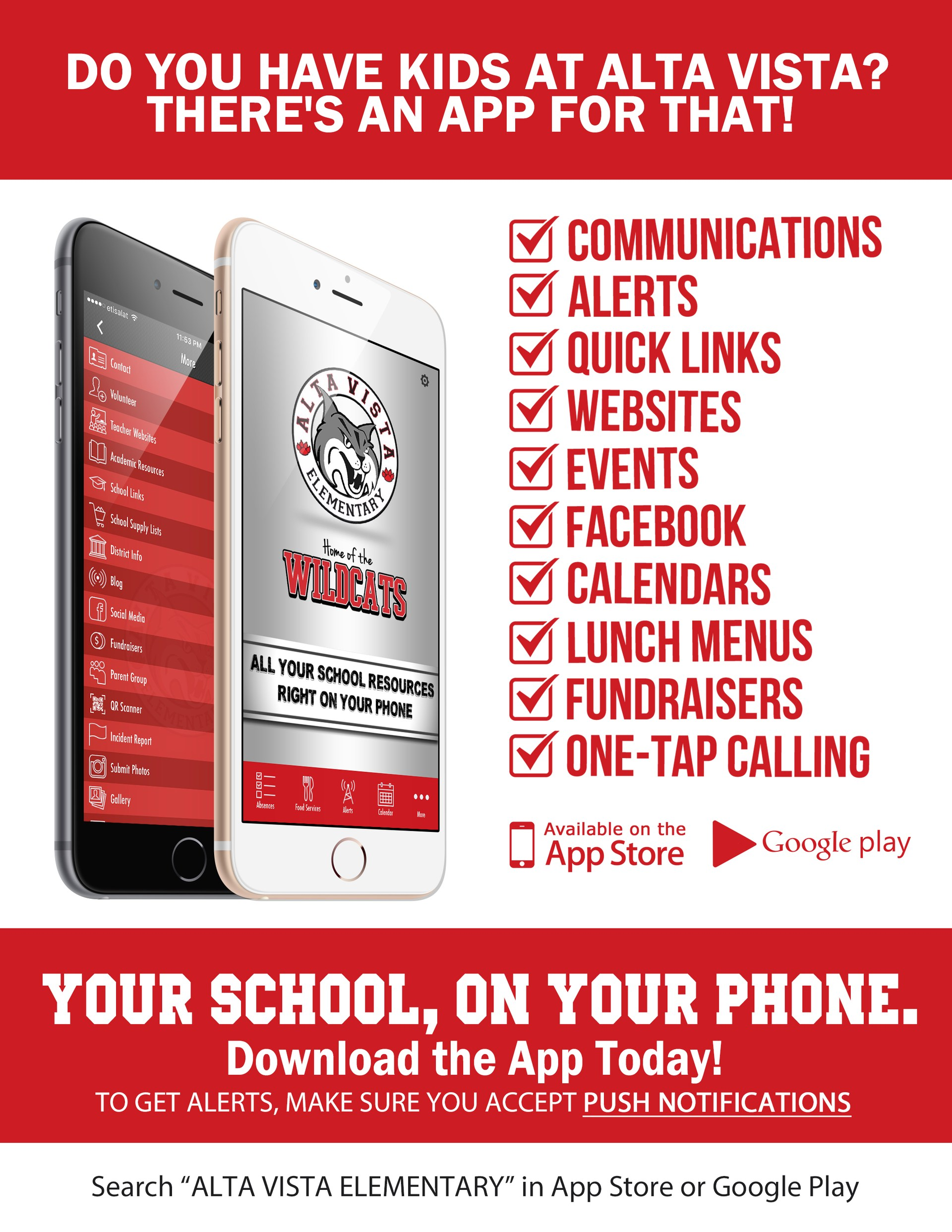 Download our Alta Vista App