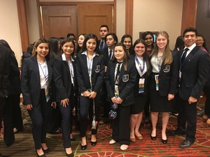 Mission High School DECA members at the Texas DECA State Career Conference.