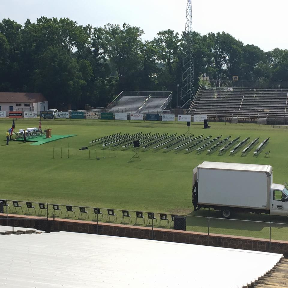 chairs set up for graduation