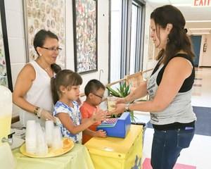 teacher purchasing lemonade