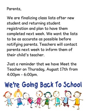 Note to Parents about class list.jpg