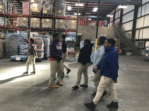 Baker Middle JAG students at the Greater Baton Rouge Food Bank