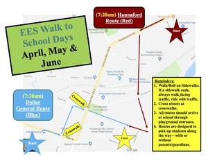 Walking Wednesdays Map