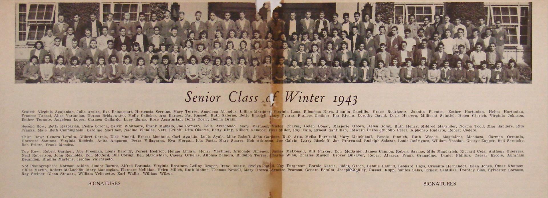 Senior class 1943