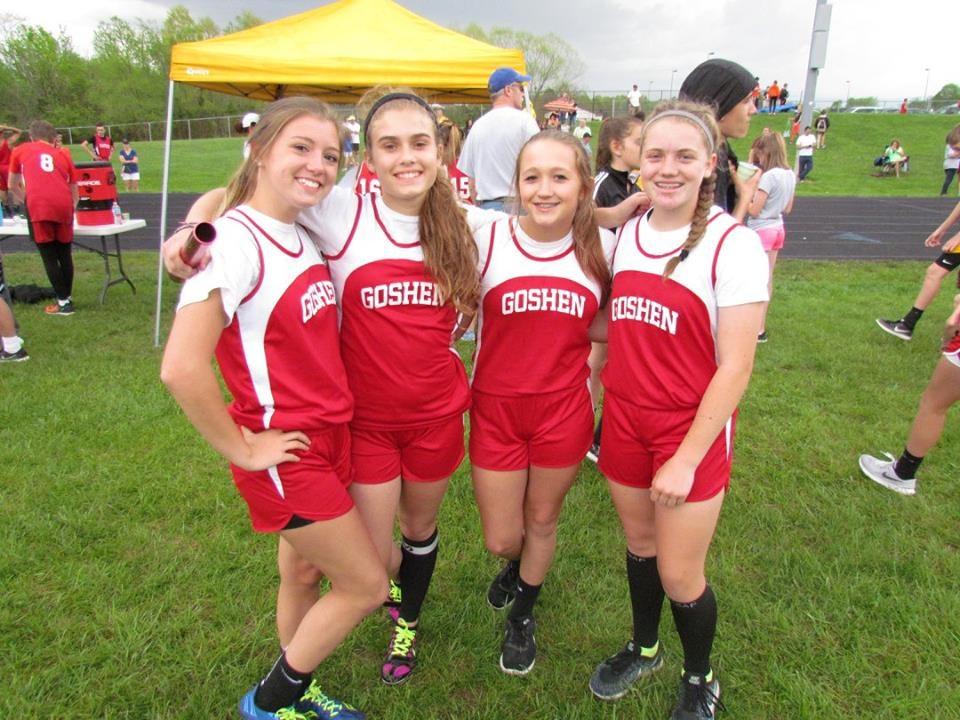 Girls track relay team