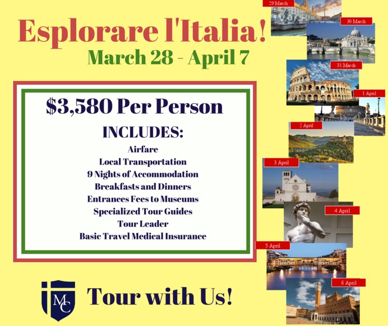 Travel Italy with Morris Catholic! - Last Chance to Register Thumbnail Image