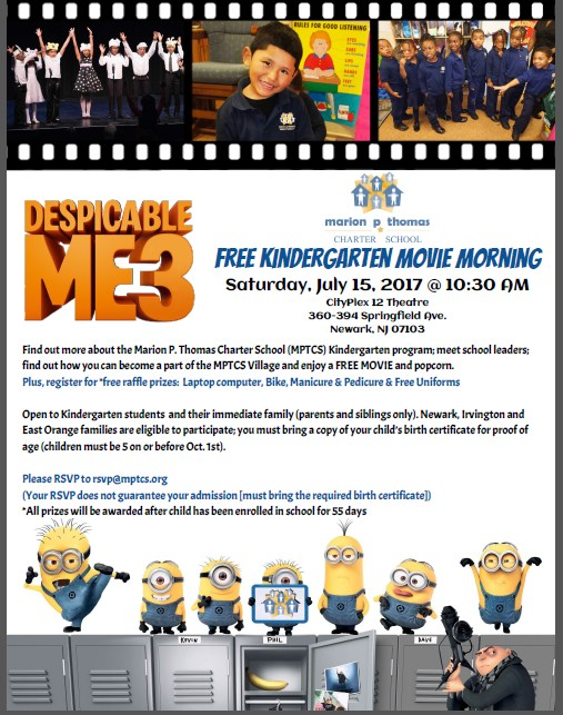 Free Kindergarten Movie Morning on Saturday, July 15th at 10:30 a.m. Thumbnail Image