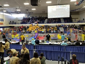 wide shot of competition floor