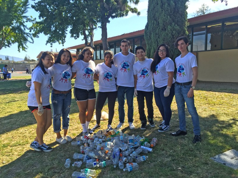 Del Mar High student Sonali Ranaweera and group Recycling Picture 4