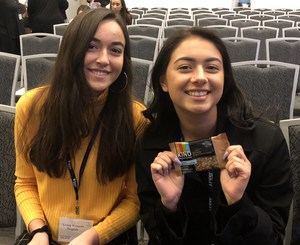 Photo of two Juniors at the Watermark Women's Leadership Conference in San Jose