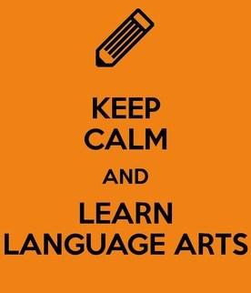Keep calm and learn language arts sign