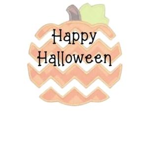 Happy Halloween on pumpkin