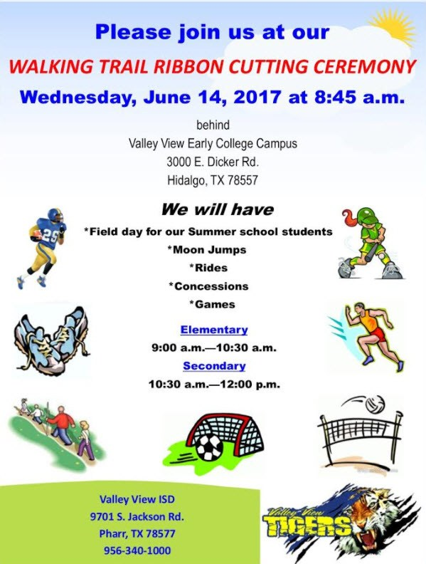 PLEASE JOIN US AT OUR WALKING TRAIL RIBBON CUTTING CEREMONY!! Thumbnail Image