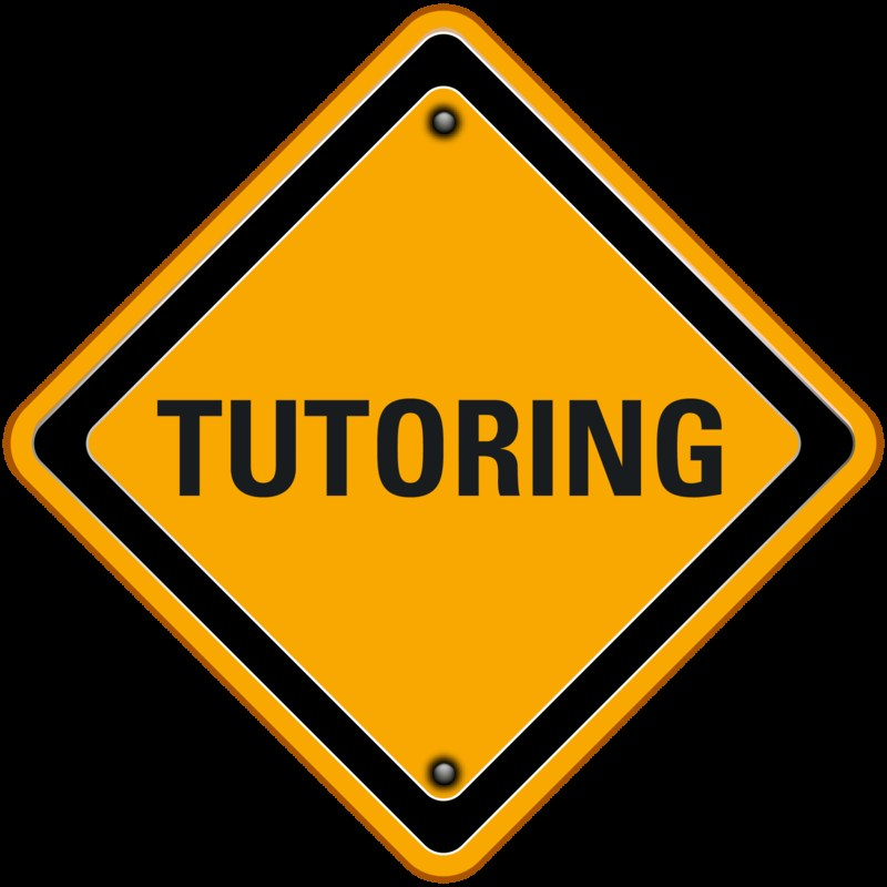 Yellow sign that states tutoring.