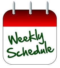 Weekly Schedule.