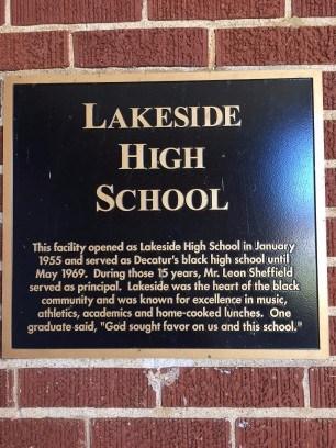 Lakeside High School Plaque