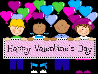 Valentine's Day cartoon students