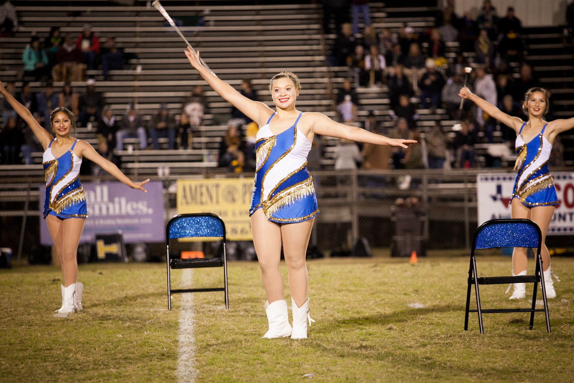 twirler on the field
