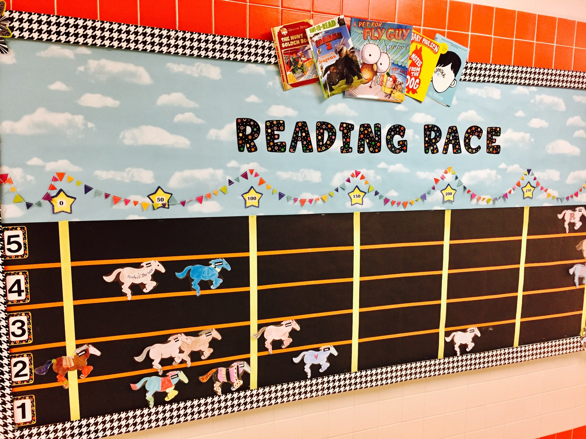 Reading Race bulletin board