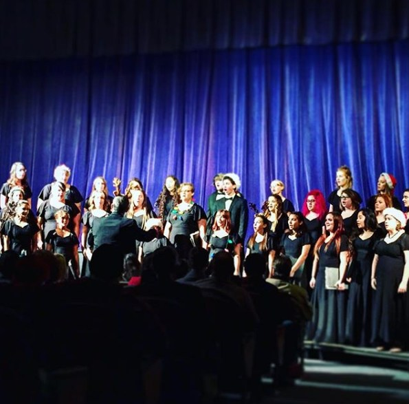 Exeter Union High School Symphonic Band and Choir earn 'Superior' rating at CMEA festivals- choir performance