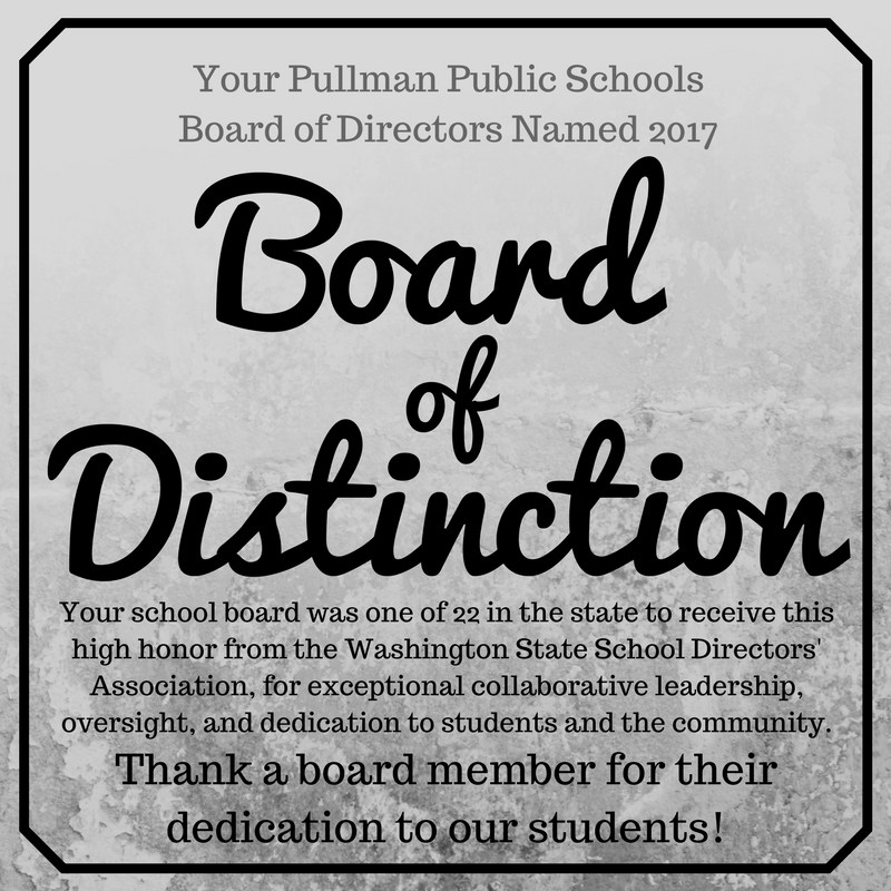 Congratulations to the Pullman Public Schools Board of Directors! Thumbnail Image