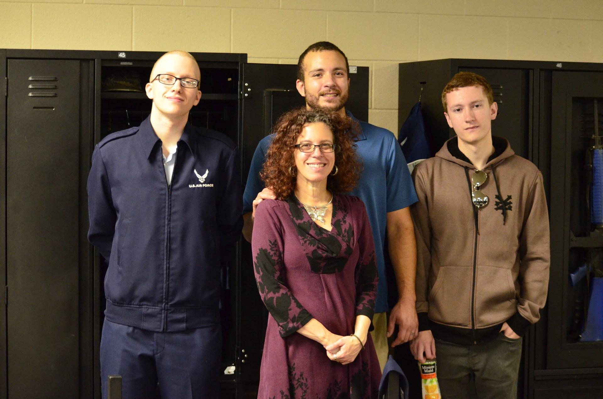 Ms. A, Ben, Dan and Jack