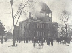 Byron High School fire February 3, 1905
