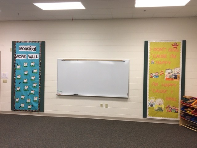 Bulletin Boards in the music room.
