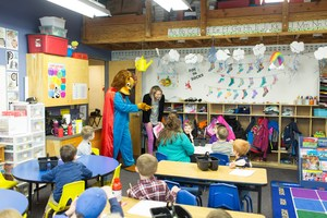 Moscow Charter School Kevin the Lion Visiting Kindergarten