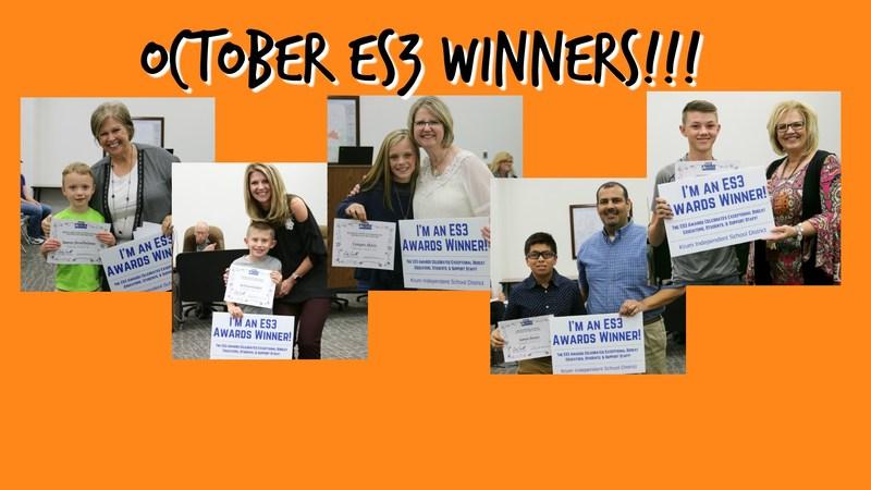 October ES3 Winners! Thumbnail Image