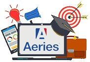 Aeries Student Information System icon.