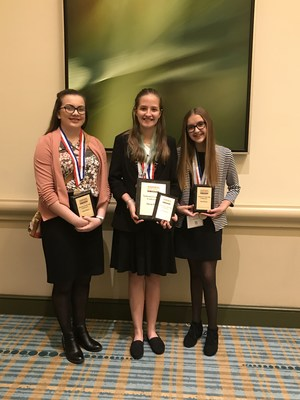 Web Site Design Team (Kamili Burnett, Aleice Mitchell, and Carina Stroble) - 3rd Place