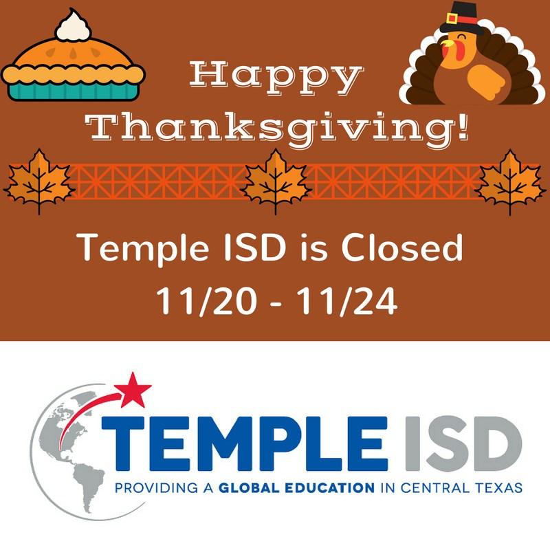 Temple ISD Closed for Fall Break