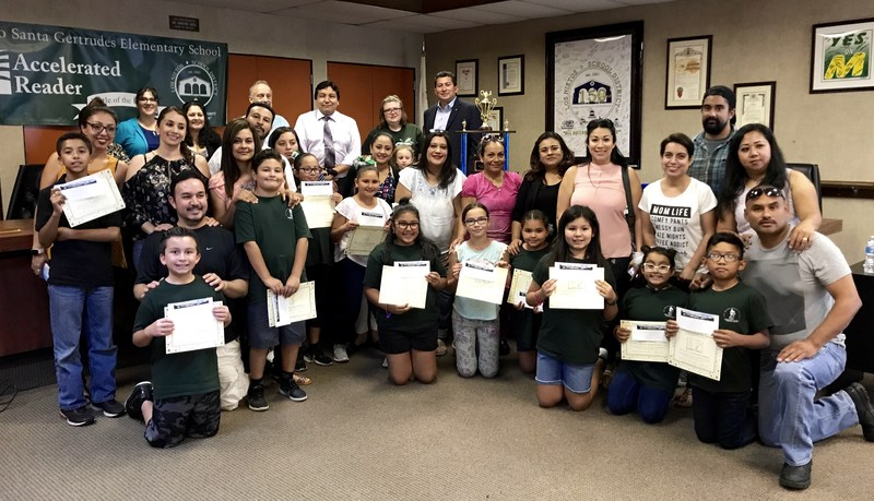 Rancho students & Teachers celebrate  thier championship at the Battle of the Books Reading Competition Featured Photo