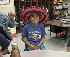 Cinco de Mayo - kids wearing Mexican hat