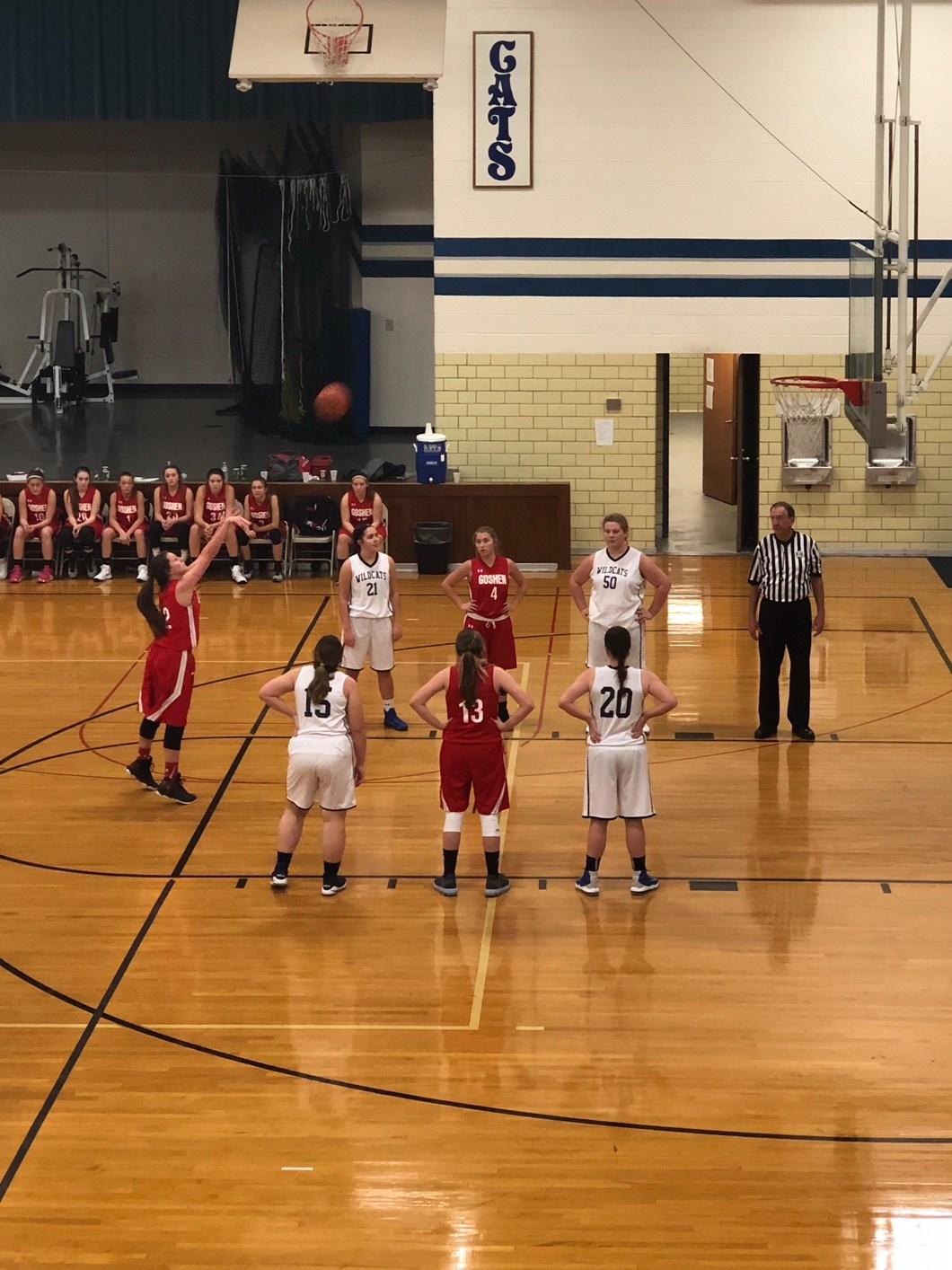 8th grade girls basketball game