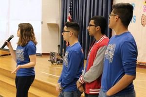 VMHS Patriots Engineering team members.