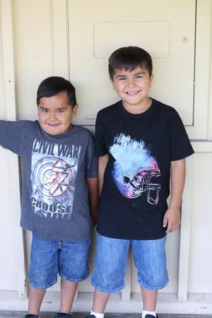 Little bro and big bro.