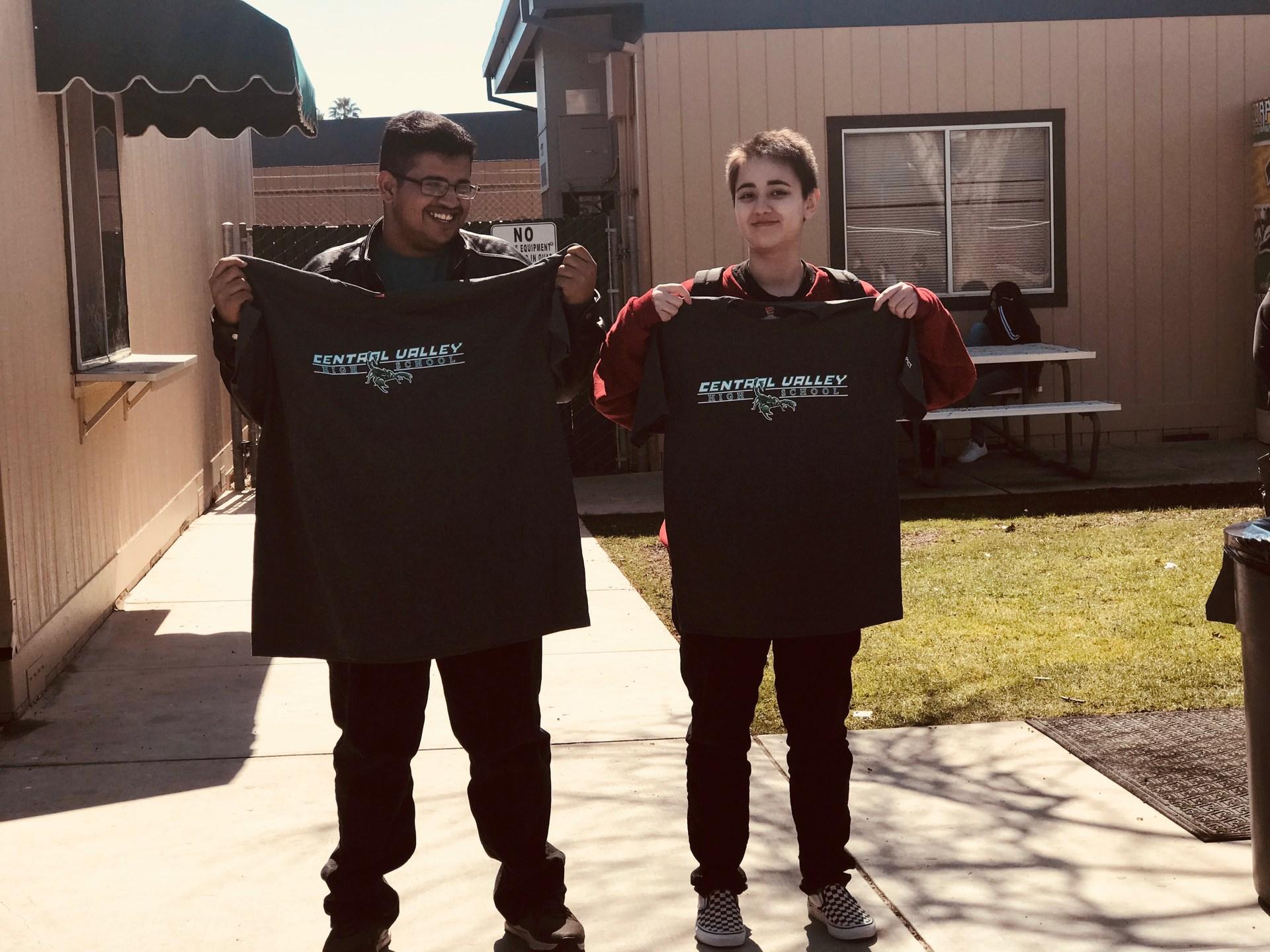 Winners of tshirts