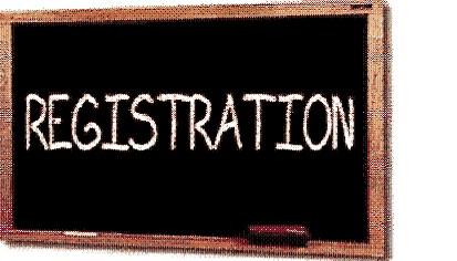 registration sign