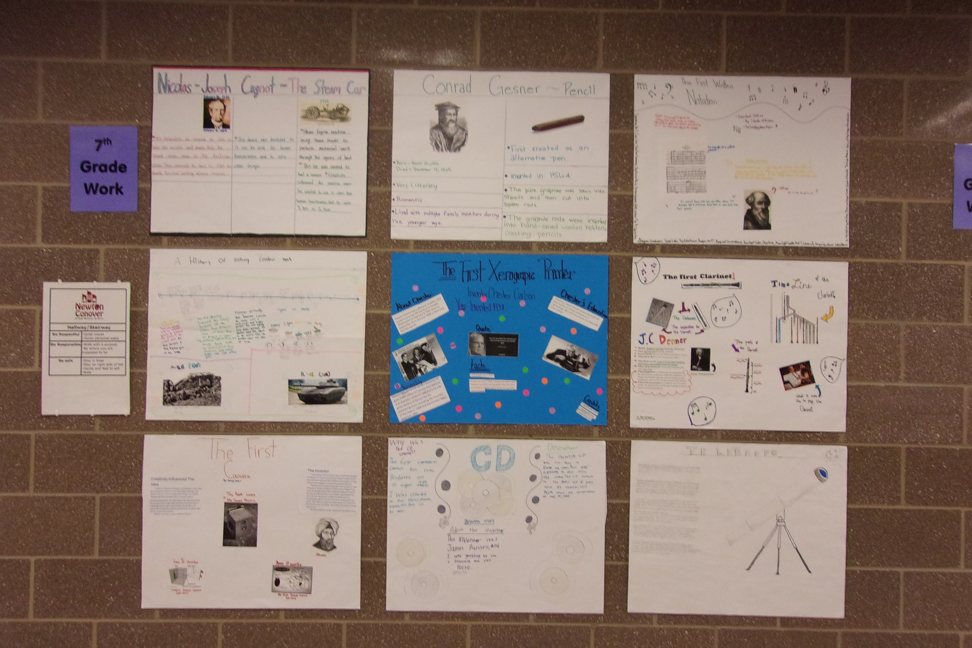 Student's Inventor's report.