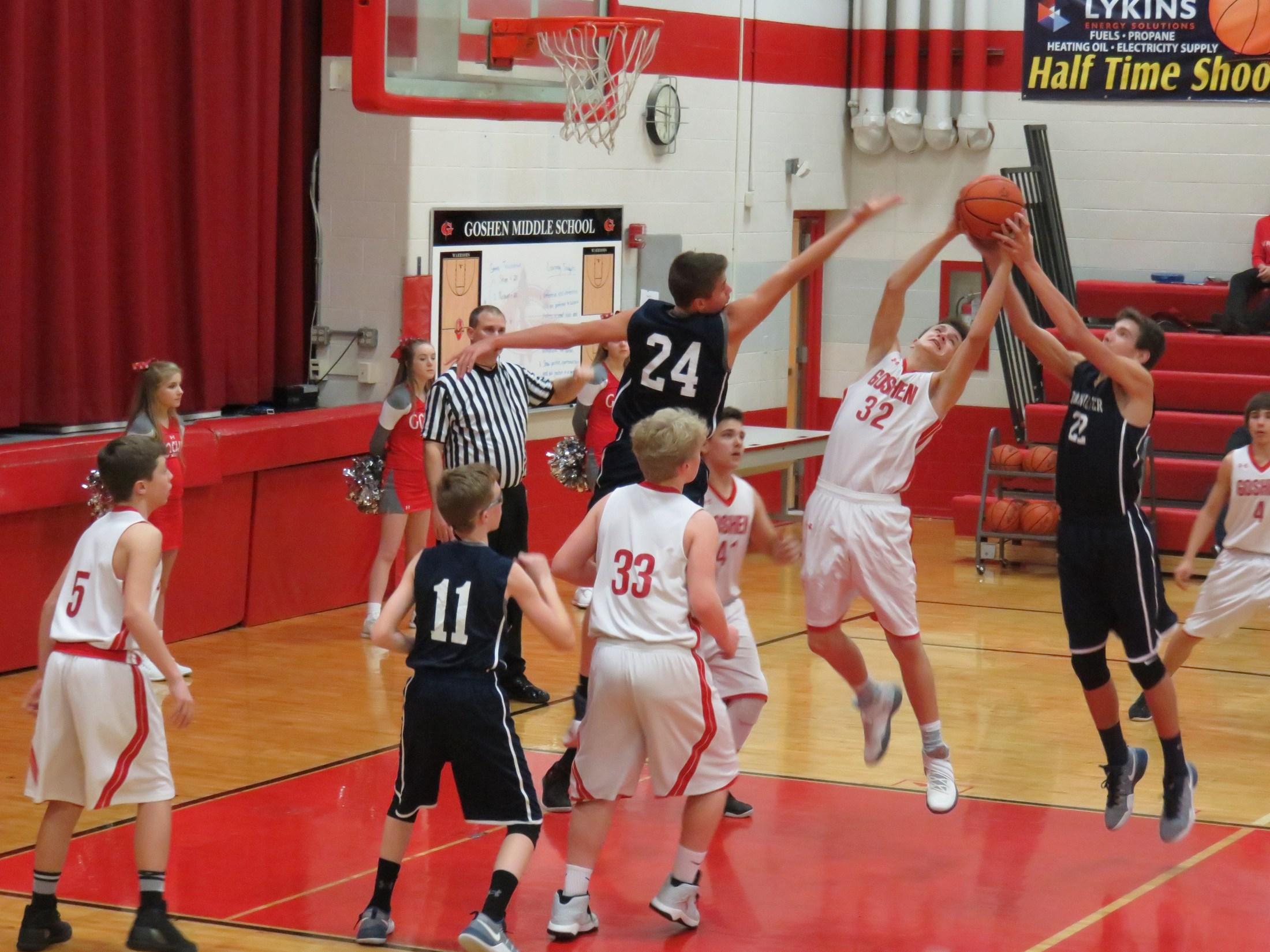 8th grade boys basketball player Brice Noland