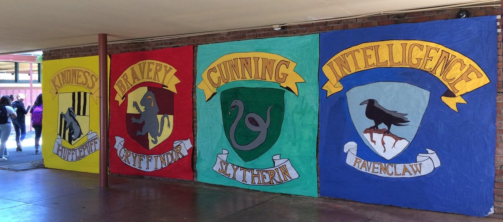Image of Senior banner in main campus corridor