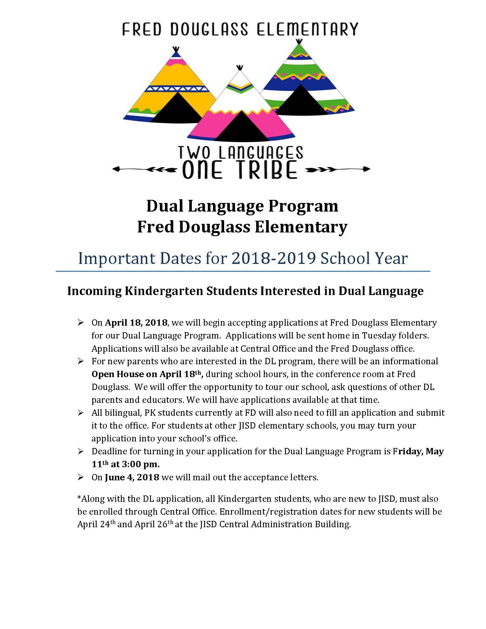 flyer for dual language in english