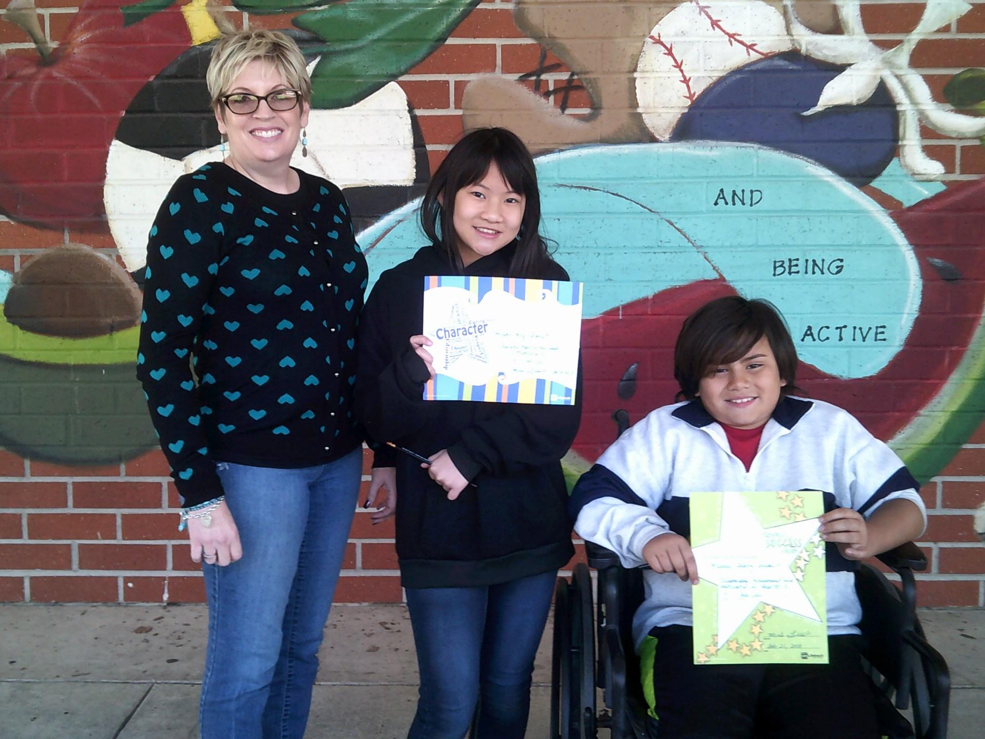 Mrs. Lies' 4th Grade February Honorees